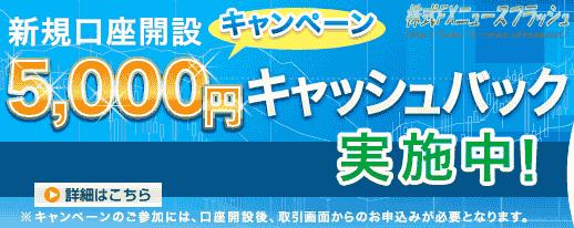セントラル短資FX キャンペーン キャッシュバック5000円(2012年5月31日(木)まで)