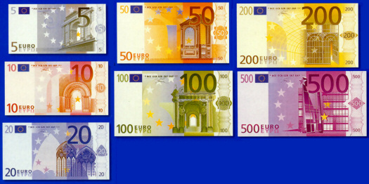 ユーロ紙幣 EURO EUR