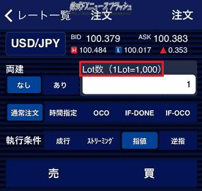 FX 1ロット 1lot 1枚 1000通貨