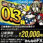 トレイダーズ証券 みんなのFX キャンペーン キャッシュバック 2万円(2017年1月31日(火)まで)
