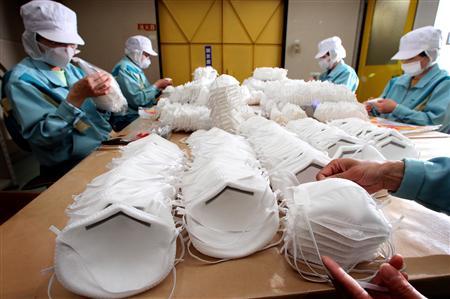 新型インフルエンザ 豚インフルエンザ 防護マスク N95マスク 日本バイリーン