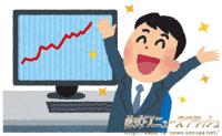 男性 チャート 上昇 急騰