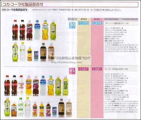コカ・コーラボトラーズジャパンHD 株主優待 商品カタログ