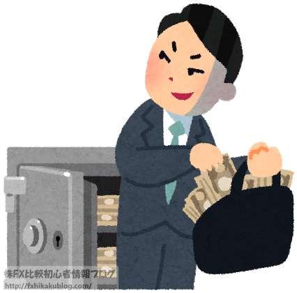会社の金庫からお金を横領する男性 サラリーマン