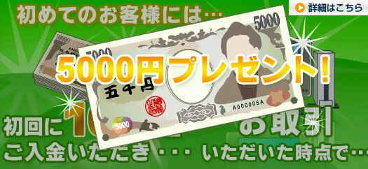 FX ZERO もらえる現金キャンペーン