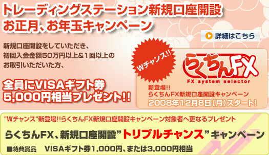 FXCMジャパン キャンペーン ギフト券 最大13000円分