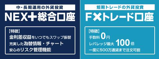 外為どっとコム 外貨ネクスト FXステージ 違い 比較