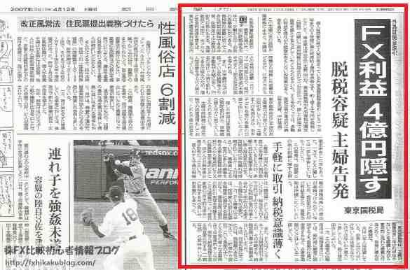 キモノトレーダー 池辺雪子 FX 8億円利益 4億円脱税 ニュース 新聞記事