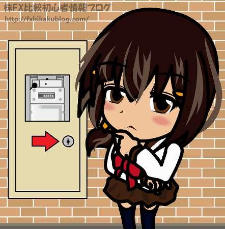 ガスメーターの扉に鍵が掛かって開かない