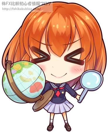 地球儀と虫眼鏡を持つ女学生 女の子