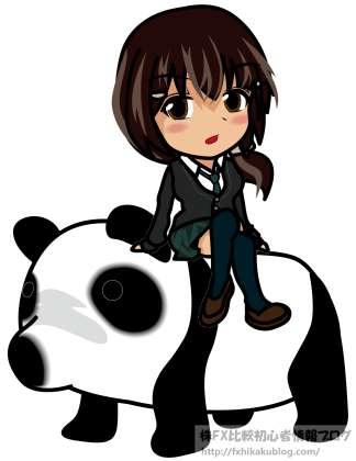 パンダに乗る女性 女の子