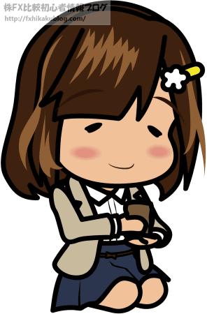 正座で茶を飲む女性 OL