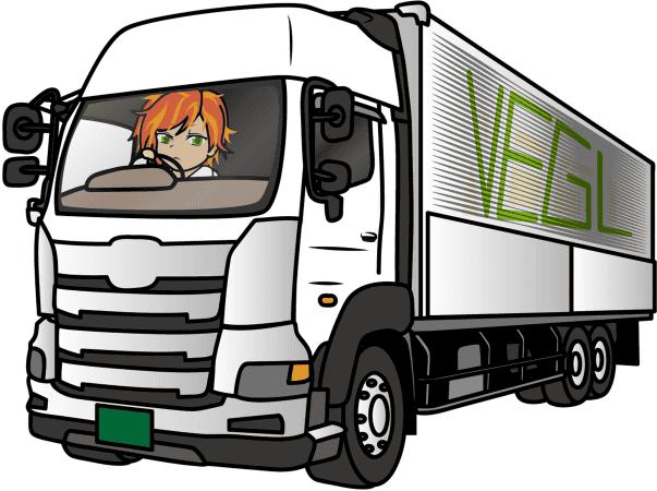 トラックを運転する女性 トラガール