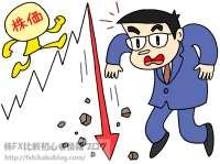 株価 暴落 下落 急落 反落