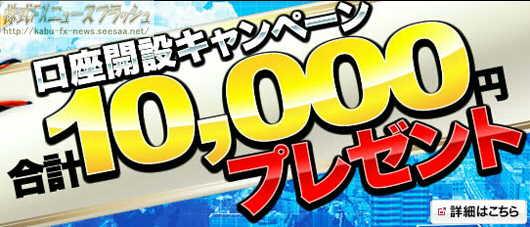 マネーパートナーズ キャンペーン キャッシュバック 10,000円(2012年2月1日(水)まで)