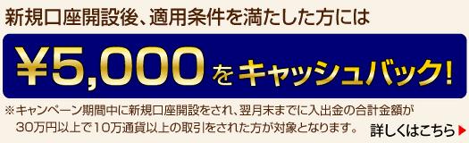 NTTスマートトレード 5000円 五千円 キャッシュバック キャンペーン