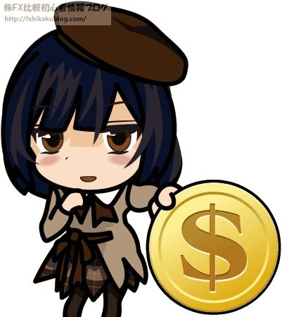 1ドルを硬貨を渡す女の子