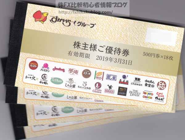 すかいらーくHD 株主優待 食事券 株主様ご優待券 1,000株 36000円