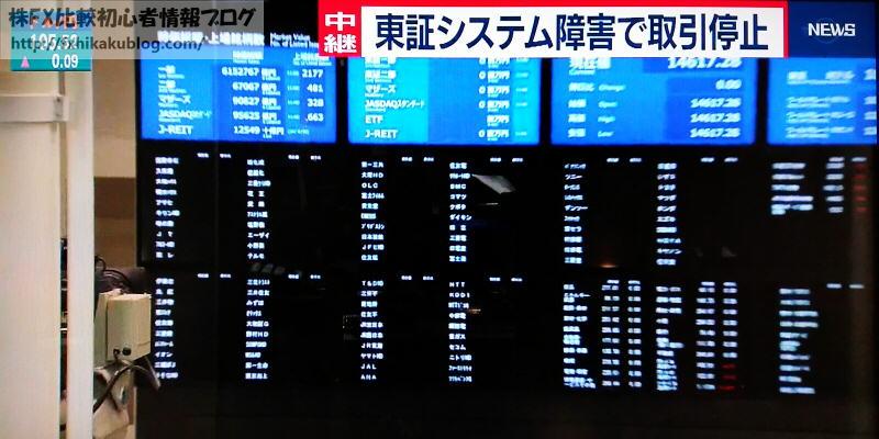 東証 システム障害 株価ボード 2020年10月1日